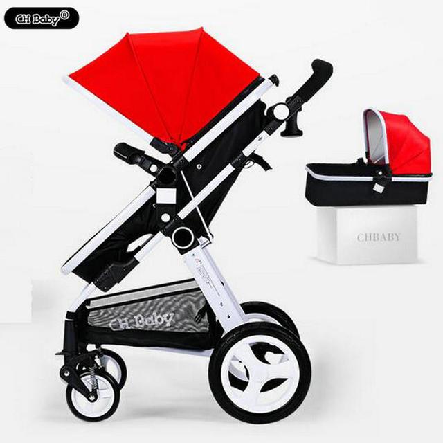 CH bebê 2 em 1 carrinho de bebê com bebê berço do bebê frame da liga de Alumínio fácil de dobrar carrinho de bebê carrinho de bebê