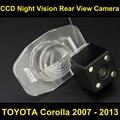 Câmera de visão traseira do carro para TOYOTA Corolla 2007 2008 2009 2010 2011 2012 2013 Visão CCD Noite de BackUp Estacionamento Reverso câmera