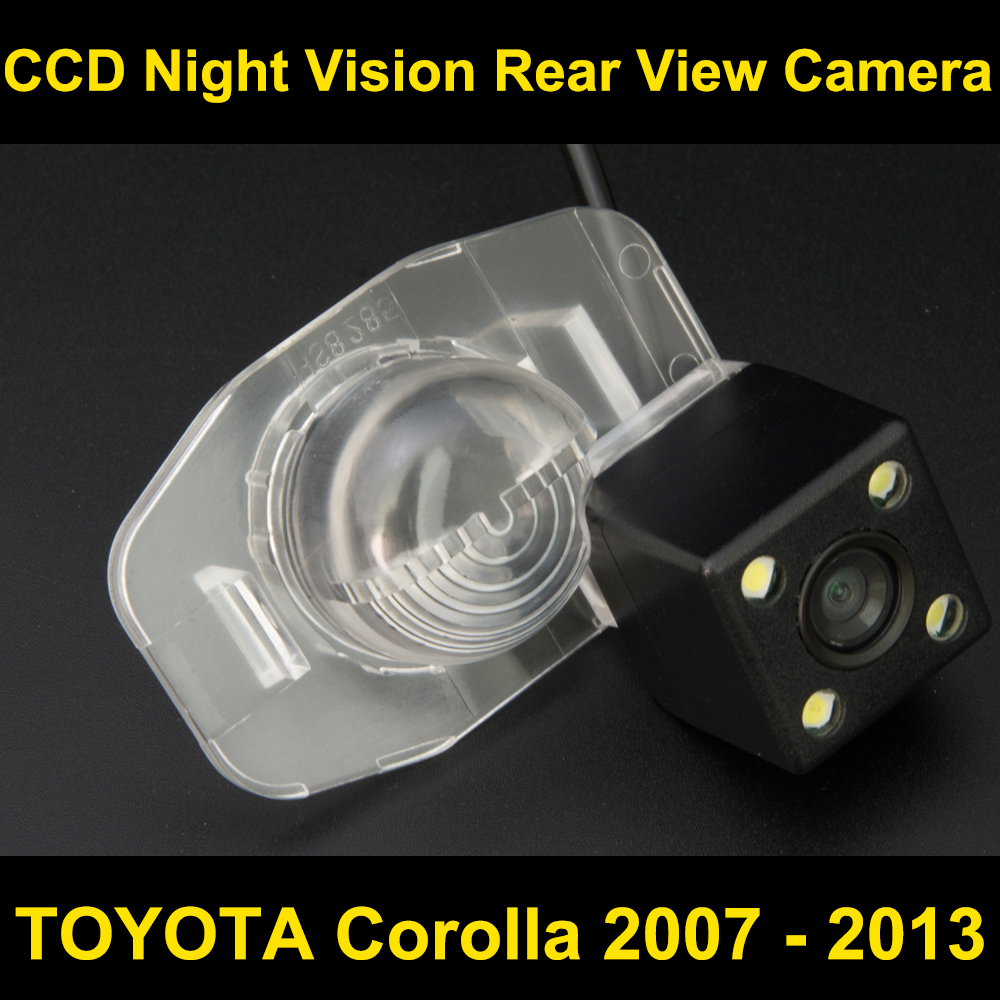 Car rear view camera for TOYOTA Corolla 2007 2008 2009 2010 2011 2012 2013 CCD Night Vision BackUp Reverse Parking Camera цена