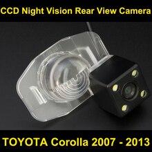 Auto videocamera vista posteriore per toyota corolla 2007 2008 2009 2010 2011 2012 2013 CCD Night Vision Inversione di Sostegno di Parcheggio fotocamera