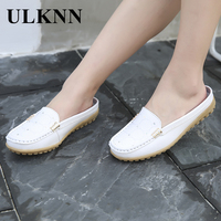 ULKNN Sandals For Women 2017 Summer Leisure Flat With Shoes White Flip Flops Size 35 40