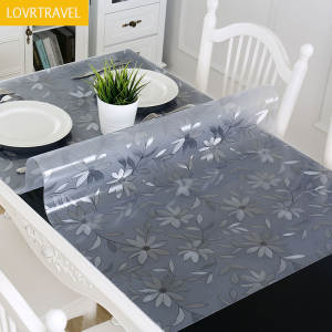 LOVRTRAVEL PVC Cover Waterproof Tablecloth Glass Cloth