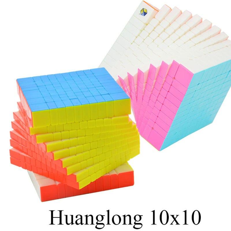 Zhisheng Yuxin Huanglong 10 Couches Cube Stickerless 10x10x10 Cube Puzzle 10-Couches Jouets Pour Enfants enfants YX1070
