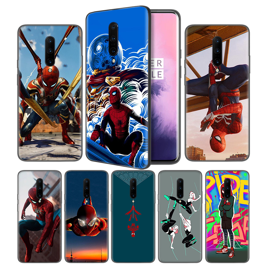 Spider Man Far From Home Soft Black Silicone Case Cover for font b OnePlus b font