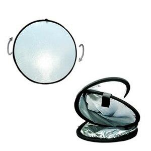 Image 2 - משלוח תיק 2 in 1 אור Mulit מתקפל לבן וכסף צילום רפלקטור 60cm תמונה אביזרי עבור פלאש אור