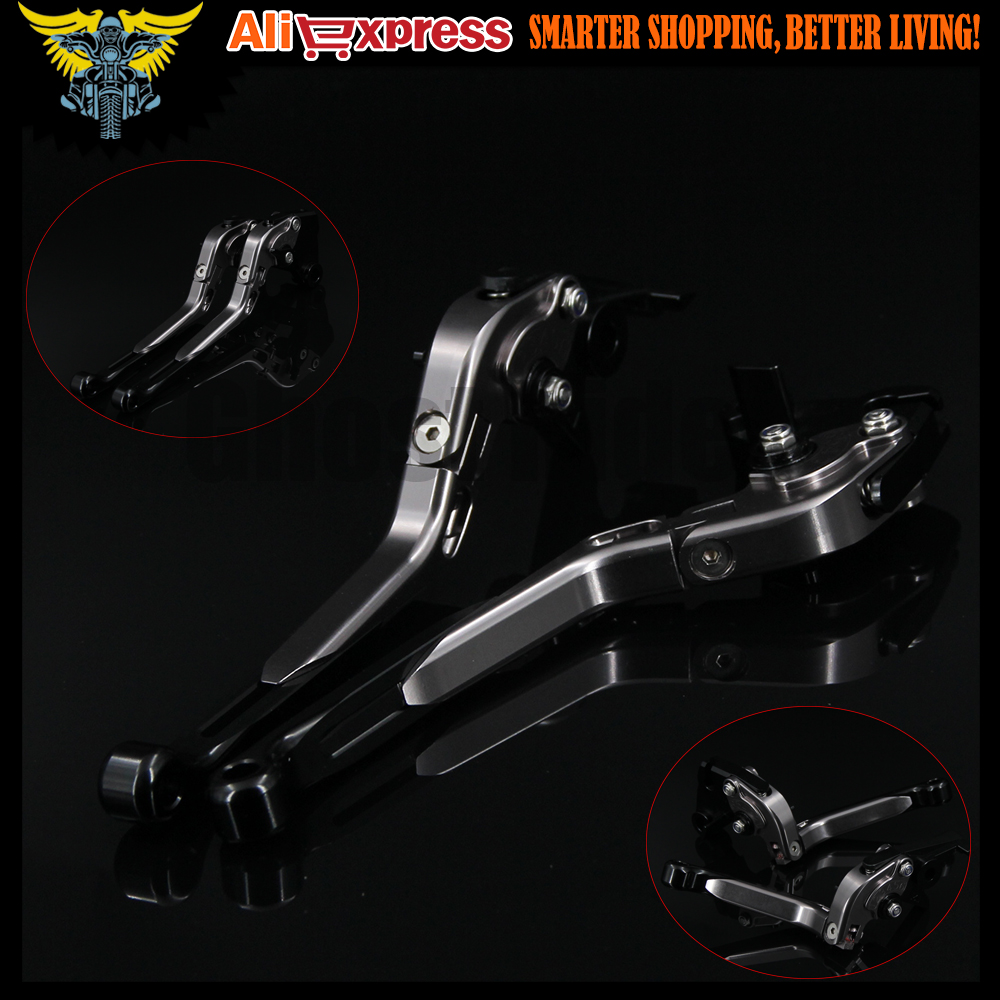 Black+Titanium 8 Colors New CNC Adjustable Folding Extendable Motorcycle Brake Clutch Levers For SUZUKI Bandit 650S 2015 new brand 8 colors optional brake lever black folding