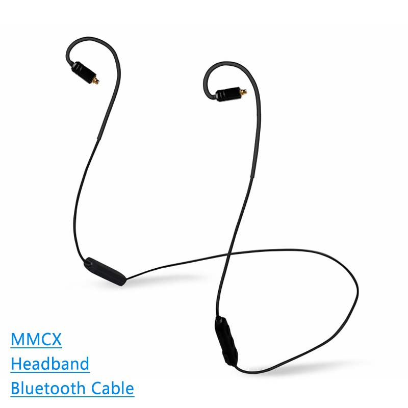 Earphone Cable Wireless Bluetooth 4.1 Version Detchable MMCX 0.78MM A2DC Interface Support Apt-X Cable For shuer ue tfz im ie80