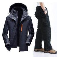 Mortonpart зимний лыжный костюм Для мужчин ветрозащитный Водонепроницаемый Сноубординг Лыжный спорт куртка и штаны супер теплый флис спортивны