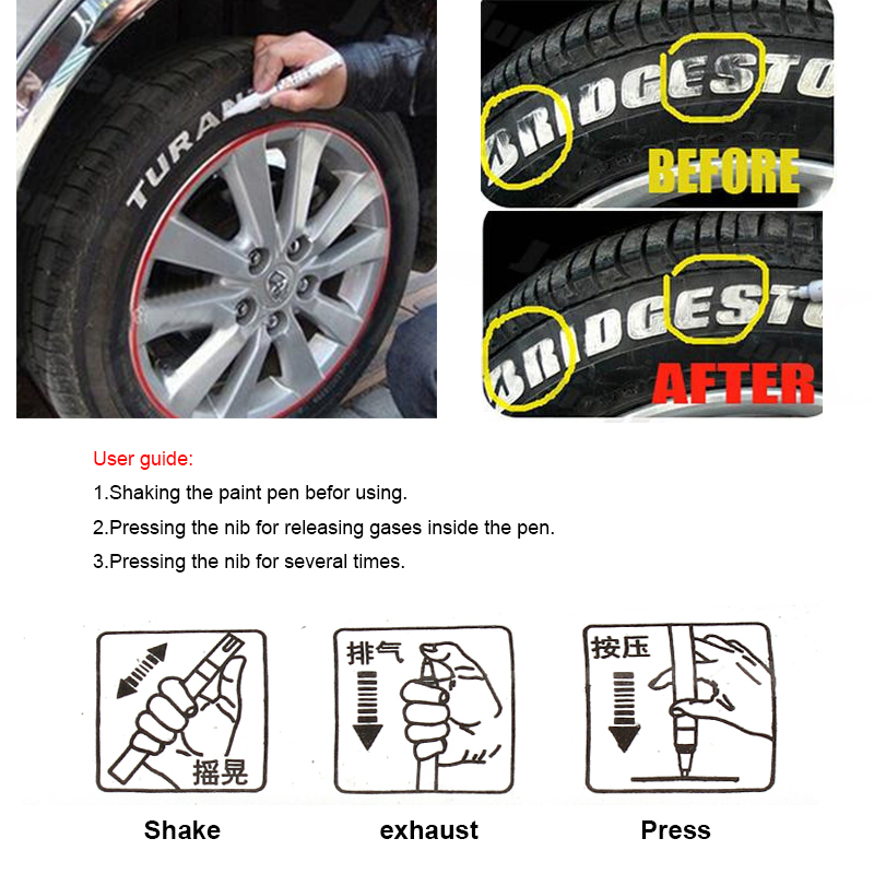 Paint For Cars >> Us 2 31 2016 New Universal Paint For Cars Waterproof Car Tire Tread Marker Paint Pen Permanent Car Styling In Painting Pens From Automobiles