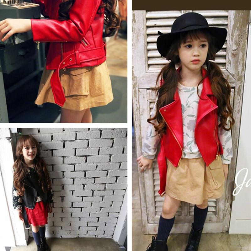 Mädchen Frühling Herbst Kleidung Leder Outfit Heiße Neue Kinder - Kinderkleidung - Foto 4