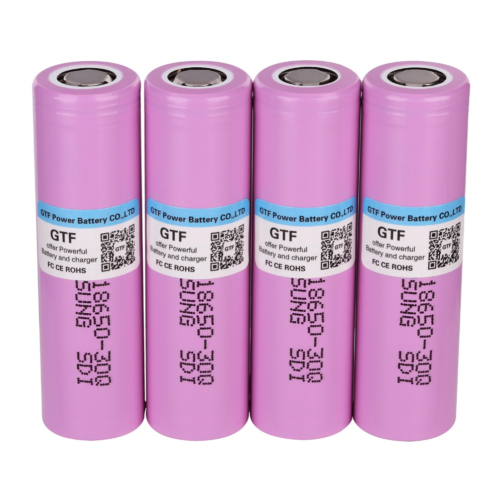 100% Original 3.7V 18650 Battery 3000mAh INR18650 30Q 20A Discharge Li-ion Rechargeable Battery For Flashlight Drop Shipping