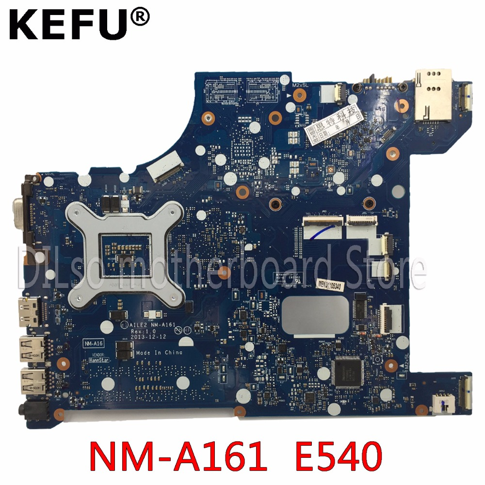KEFU NM-A161 For Lenovo AILE2 NM-A161 E540 laptop motherboard for Lenovo ThinkPad Edge E540 mainboard rev1.0 Test PGA947 цена