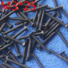 M3*25 black 1pcs Nylon Phillips Countersunk Flat Head Screw 25mm Plastic Bolt Fasteners Assortment brand new PC