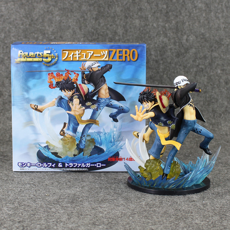 One Piece Luffy Trafalgar Law 5th Anniversary PVC Action Figure Anime Collectible Model Toy 16cm Doll anime k on 5th anniversary akiyama mio 1 7 scale painted pvc action figure collectible model toy 22cm