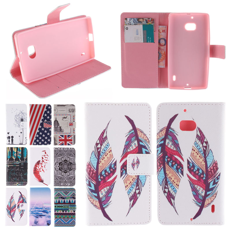 SEASHORE Colorful Painting Flip Leather Cover Case for Nokia Lumia 930 640 XL cell Mobile Phone Cases Card Holder for Nokia 640