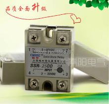 цена на Single phase DC solid state relay SSR-25DD DC control DC 25A  Free shipping