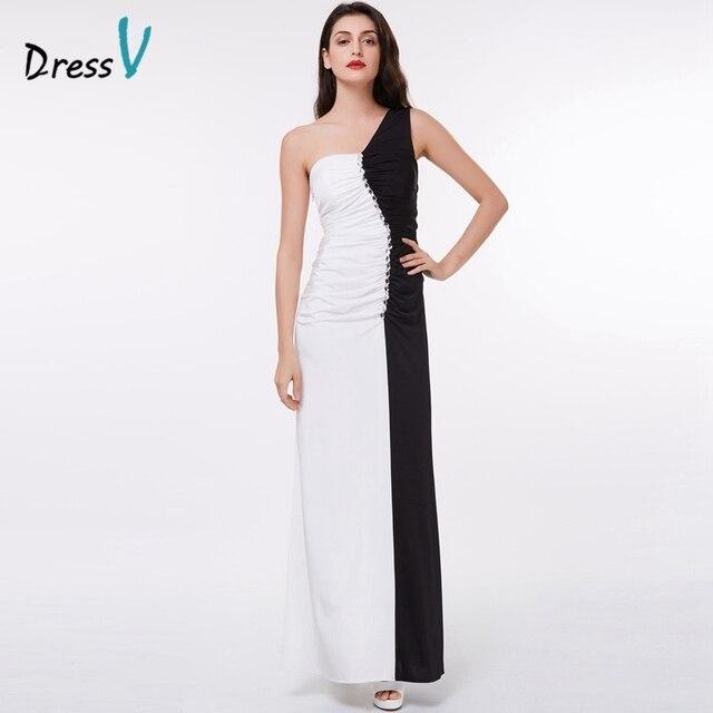 29cdd3c1bbb5 Vestito bianco e nero lungo elegante – Abiti alla moda
