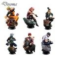 6 Pçs/set Uzumaki Naruto Figura de Ação Anime Pvc 9 cm Legal Hinata Madara Figura Kakashi Brinquedos Clássicos para Crianças ou Coleção WS156