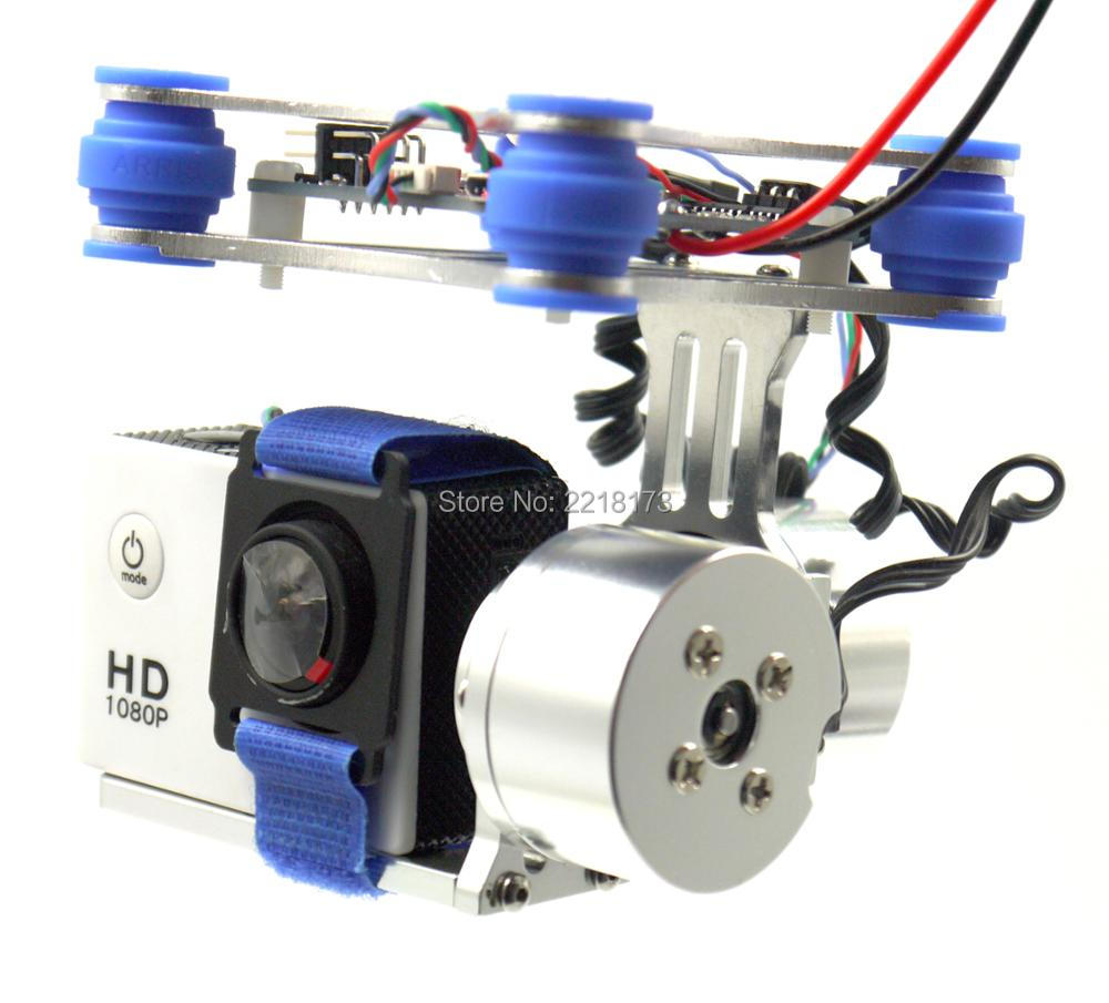 RTF 2 Axis Metal Brushless Gimbal with BGC Controller Board 2208 Motors for SJ40000 GoPro 3 4 Camera 1 2 Walkera X350 Pro