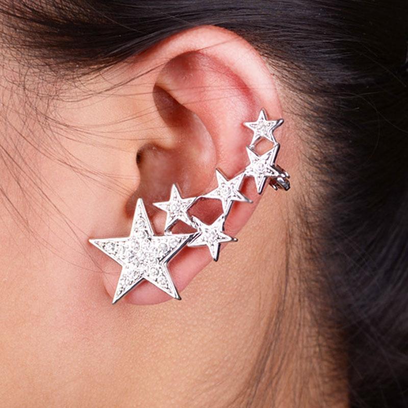 Full Ear Earrings Hot Earring Models Mixed Colors Crystal ...