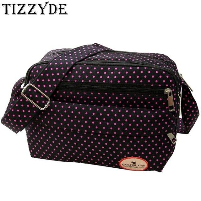 2017 Korean Fashion Canvas Messenger Bag Women Polka Dot Casual Shoulder Bag  Durable Sweet Style Small Bag Girl Travel Bag DY215 3692f88a726bb