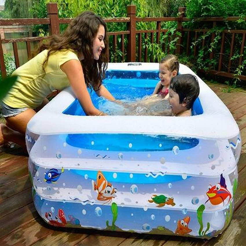 Adult children's pool, thick PVC inflatable swimming pool   Water Entertainment Products thickened swimming pool folding eco friendly pvc transparent infant swimming pool children s playing game pool