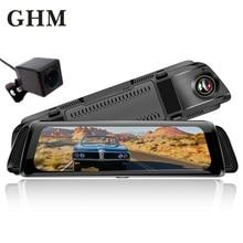 лучшая цена Hd 10''inch Touch Screen Dual Lens  Dvr Car Camera Recorder Dash Cam Night Vision Cycle Recording G-sensor Drive Video