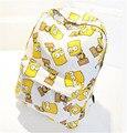 Moda mochila para senhoras desenhos animados versátil estudante mochilas impressão simples saco de poliéster mulheres mochila de viagem sacos mochila