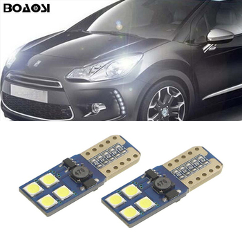BOAOSI 2x T10 W5W LED 3030SMD Parking Lights Sidelight No Error For Citroen C4 C5 C3 Grand Picasso Berlingo Xsara Saxo C1 C2 ds3 image