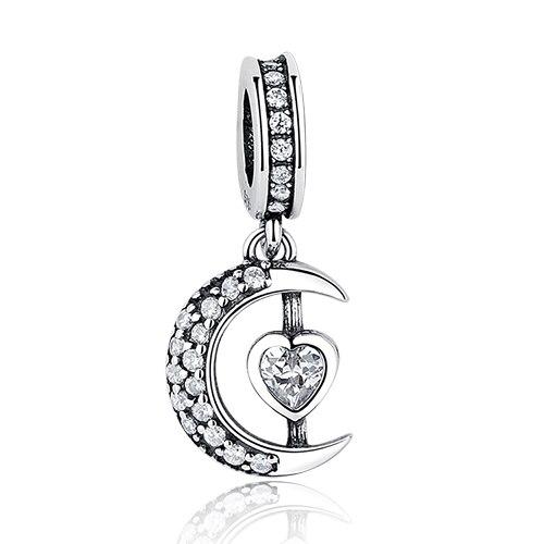 DIY Серебряный Шарм подходят Pandora браслет Бусины стерлингового серебра 925 Любовь мотаться Шарм crystal сердце, цветок, башня, дерево из бисера - Цвет: PY1265