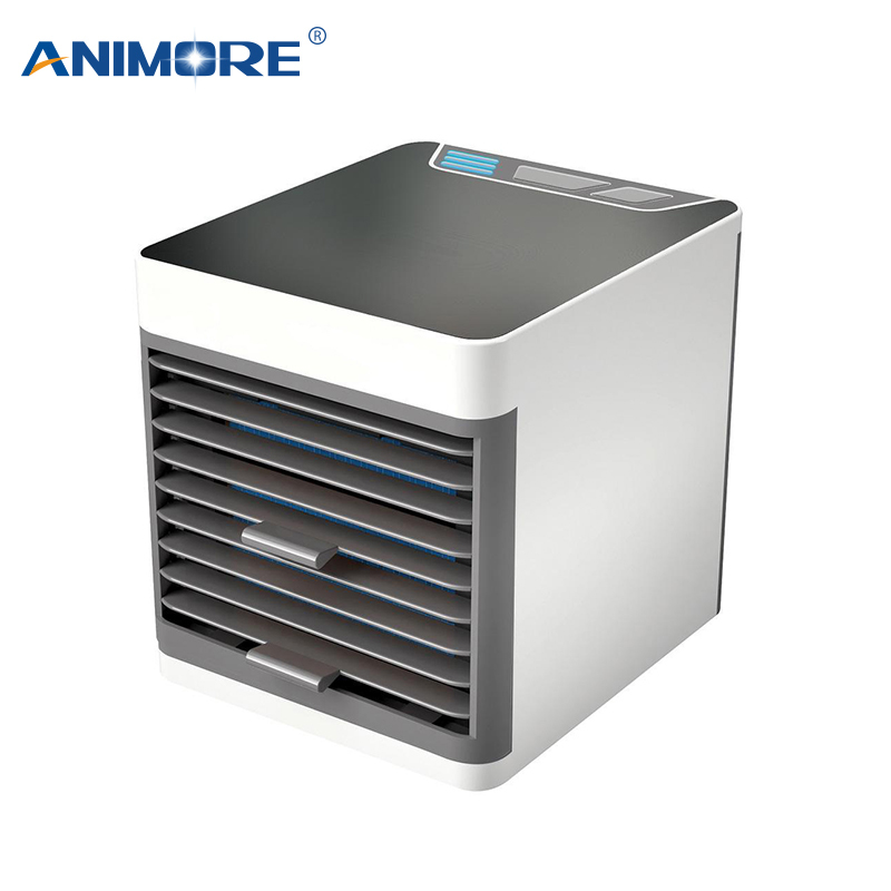 ANIMORE Portable Air Conditioner USB Mini Air Cooler Humidifier Purifier Colorful LED Light Personal Space Fan Air Cooling Fan(China)
