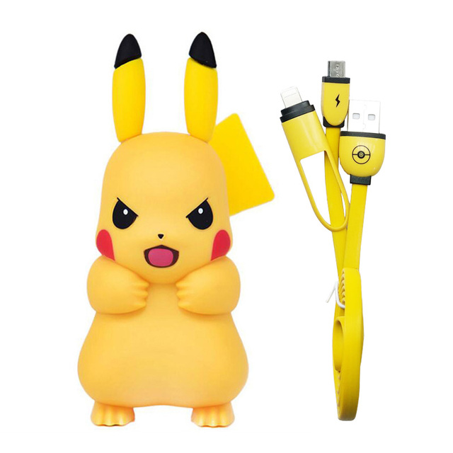 For iPhone Charger, Pocket Monster Pokemon Go Cute Pikachu Design Pop for iPhone 6 Mobile Charger USB Adapter Charger Socket