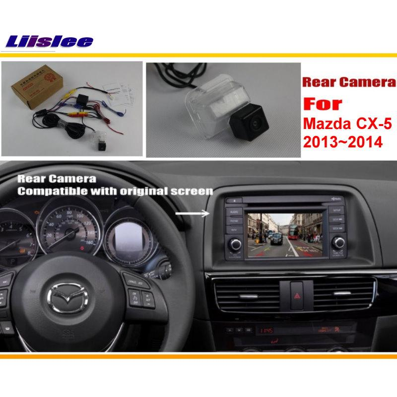 Liislee Car Rear View 카메라 / Mazda CX-5 CX 5 CX5 2013 2014 / Original Screen Compatible 용 역방향 카메라 세트 백업