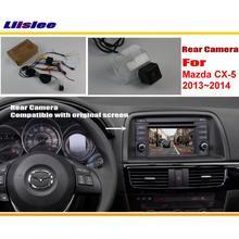 Liislee Coche Cámara de Visión Trasera/Copia de seguridad de Reversa Cámara Fija para el Mazda CX-5 CX 5 CX5 2013 2014/Pantalla Inicial Compatible