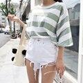 2017 Estilo de Cintura Alta Ripped Denim Shorts Verano de Las Mujeres Jeans Shorts Feminino Blanco Verano Negro Pantalones cortos para Mujer