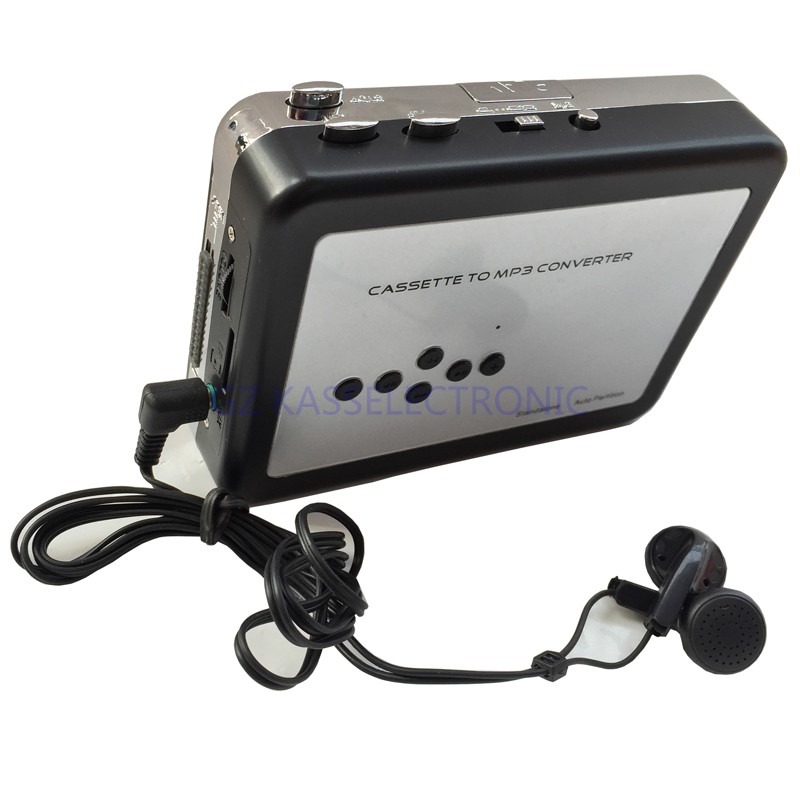 2017 New portable cassette player in SD TF Card, Auto reverse playback headphones   Free shipping