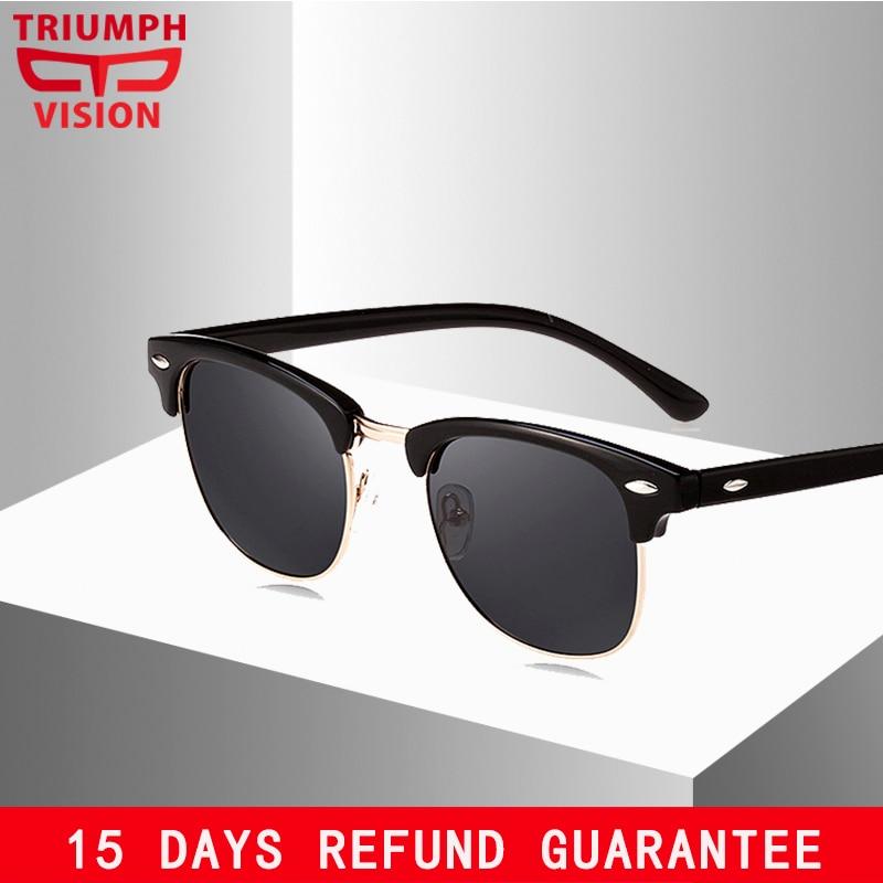 TRIUMPH VISION Polarizirane sunčane naočale za muškarce Žene Klasične polusušne ogledala, sunčane naočale za vožnju, Gafas de sol mujer nijanse
