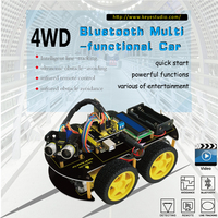 2017 New Year Present Keyestudio 4WD Bluetooth Multi Functional Car For Arduino Robot With LCD1602 Bluetooth