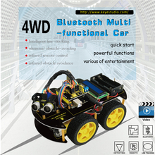 Keyestudio 4WD Bluetooth multifunktionale DIY Smart Car kit + Bedienungsanleitung + PDF + Video + schraubendreher Für Arduino Robot Auto Starter