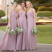 Verngo Chiffon Bridesmaid Dresses Backless Dress Elegant Wedding Party Vestidos Fiesta Boda