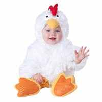 Birthday Party cosplay 6-30 months baby children plush animal white chicken cock pink dog costume hat shoes clothing
