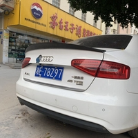 For Audi S4 A4 B8 B8.5 4 door sedan 2009 2012 2016 HK style high quality carbon fiber rear wing Roof rear box decorated spoiler