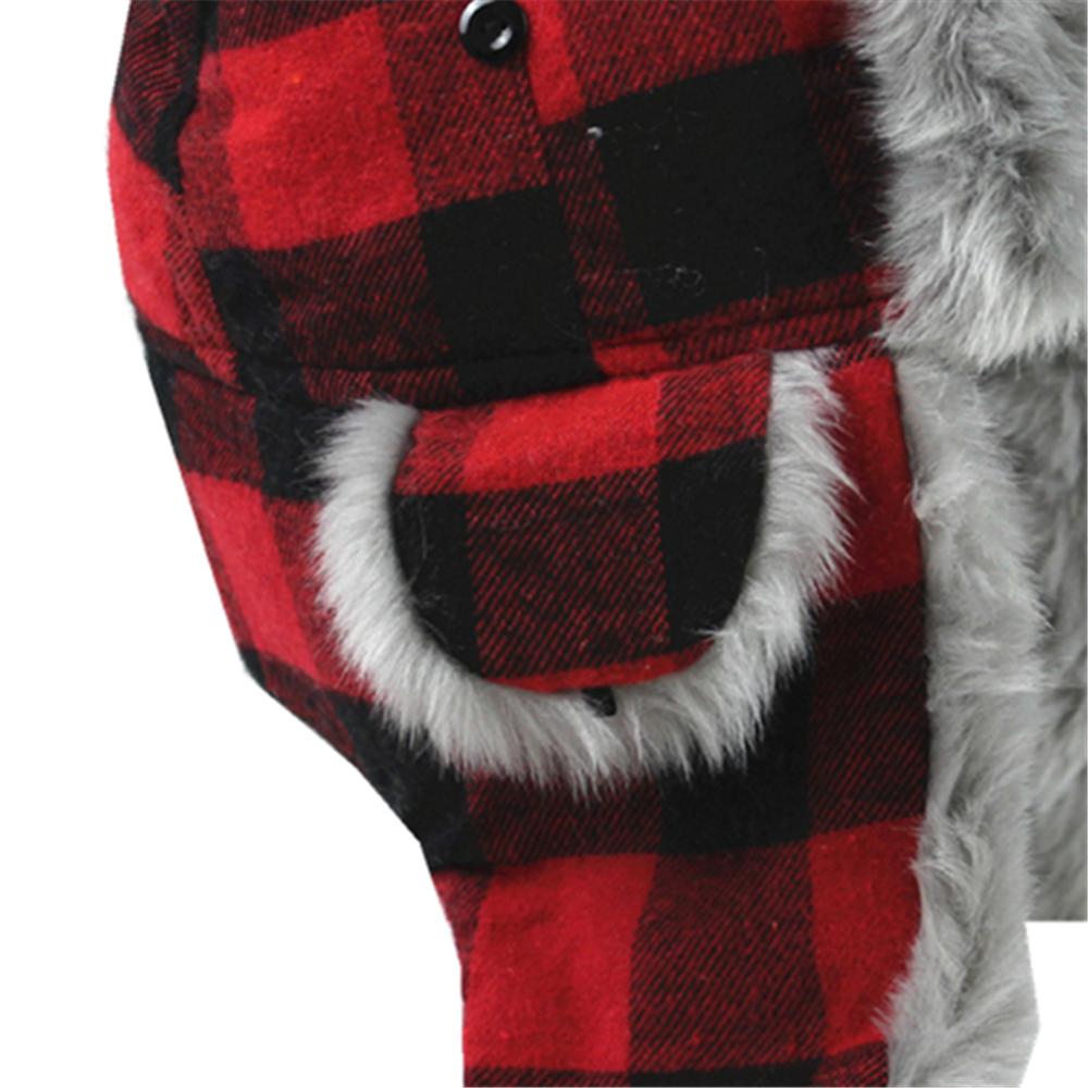 Socks Uwear New Mens Womens Fur Plaid Check Trapper Warm Winter Thermal Hat A821