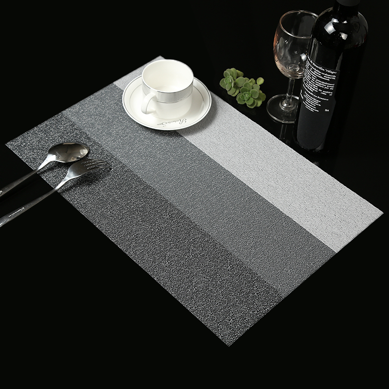 4 Stks / partij Contrast kleur Placemat mode pvc eettafel mat remblokjes kom pad onderzetters tafelkleed pad antislip pad