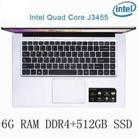 os שפה P2-06 6G RAM 512G SSD Intel Celeron J3455 מקלדת מחשב נייד מחשב נייד גיימינג ו OS שפה זמינה עבור לבחור (1)