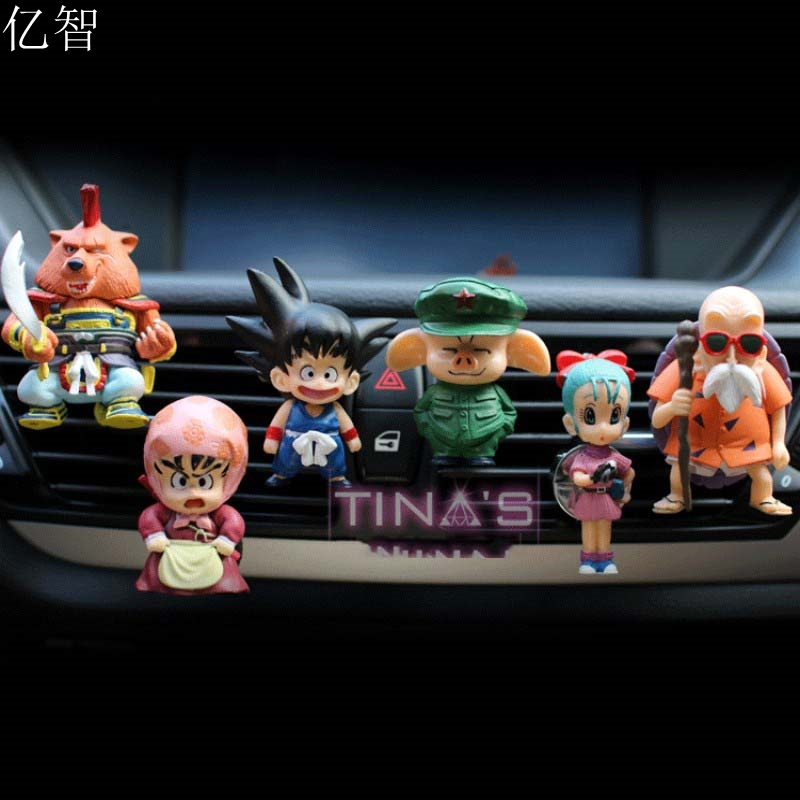 YZ car perfume dragon ball cartoon doll cool styling outlet air <font><b>freshener</b></font> 8pcs/lot