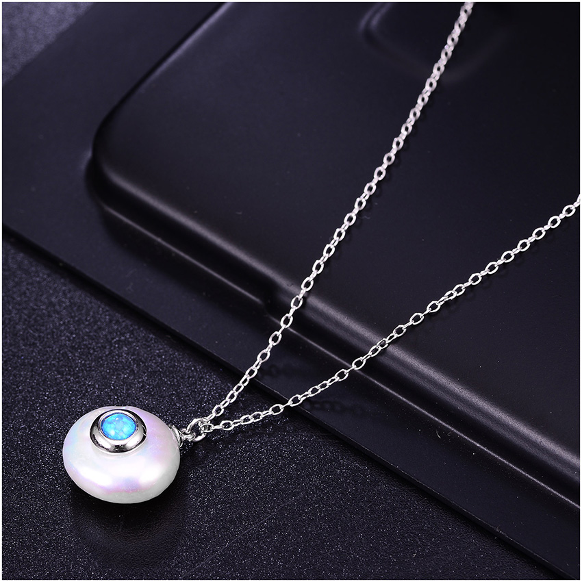 HTB1IOduXN rK1RkHFqDq6yJAFXaz Hongye 2019 New Fashion Freshwater Pearl Necklace Women 925 Sterling Silver Chain 12mm Pearl Pendant  Jewelry Necklace For Gift