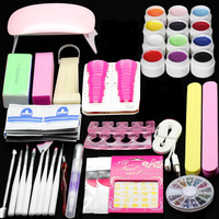 Mini Super Lamp Faster 6W LED Pink Led Nail Set ToolLight 12 Color Gel Nail Makeup UV gel Polish Dryer Diy Armor For HomeUse