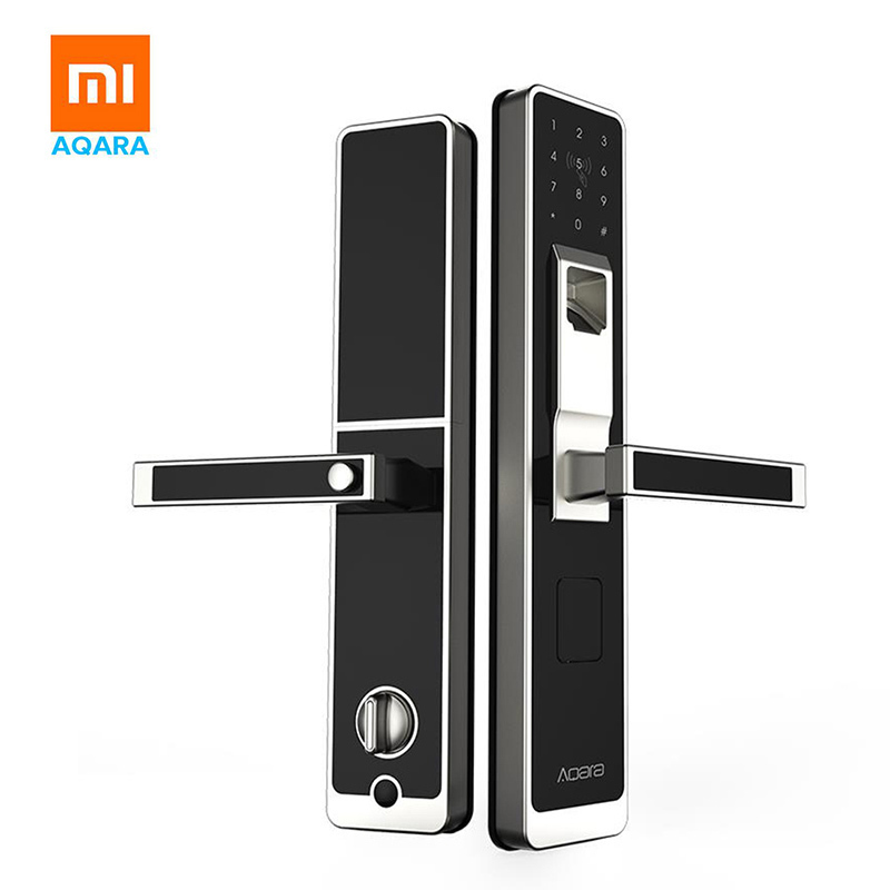 Serrure intelligente originale de porte de xiaomi mi jia Aqara, empreinte digitale sans clé d'écran tactile numérique + mot de passe travail à mi accueil app contrôle de téléphone
