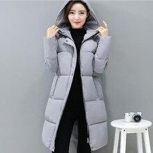 Новые Теплые зимние женские пальто длинный тонкий хлопок-мягкий parrka утепленная куртка с длинными рукавами Hoodded верхняя одежда